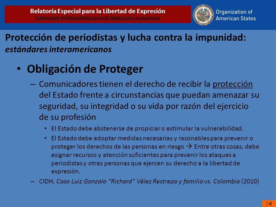 Obligación de Proteger