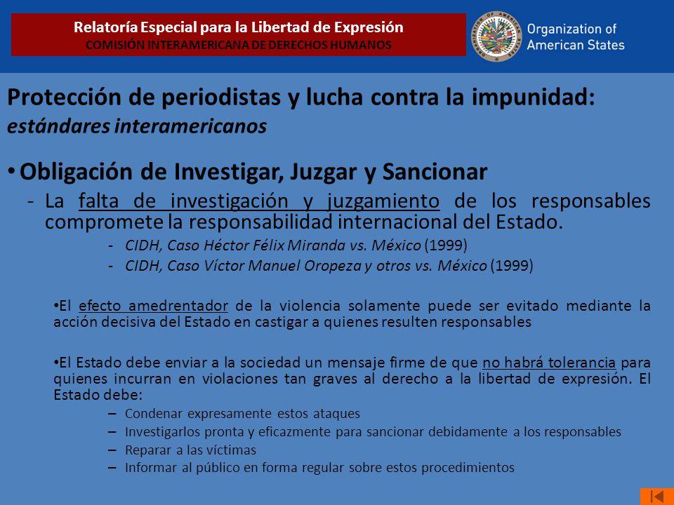 Obligación de Investigar, Juzgar y Sancionar