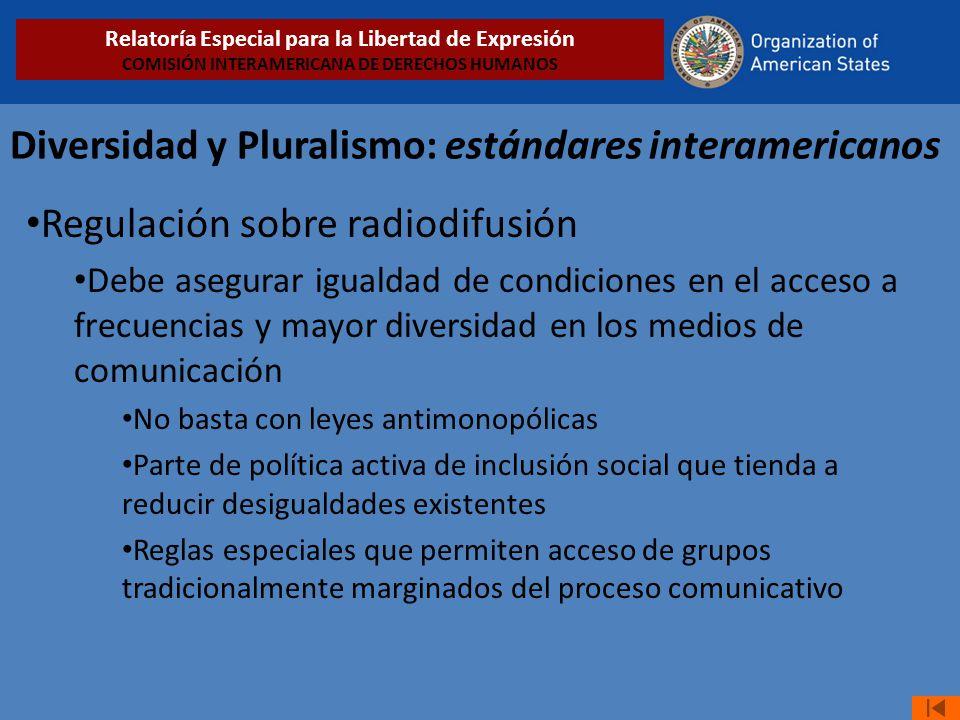 Diversidad y Pluralismo: estándares interamericanos