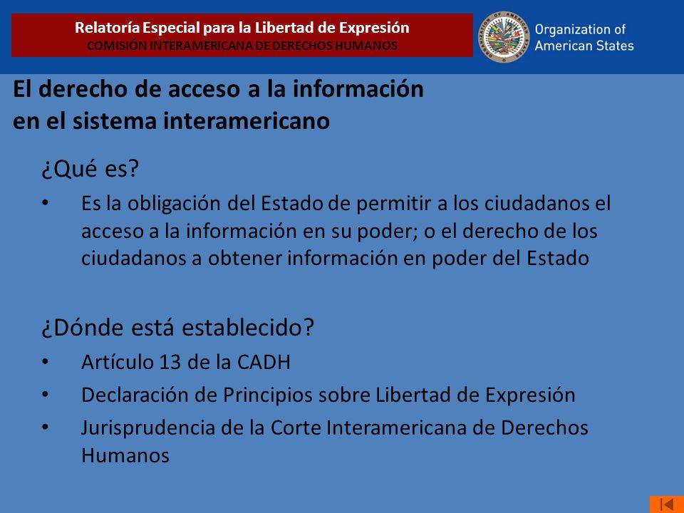 El derecho de acceso a la información en el sistema interamericano