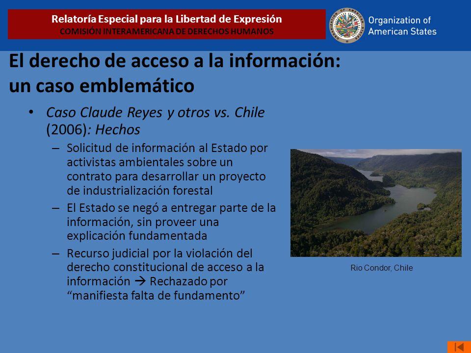 El derecho de acceso a la información: un caso emblemático