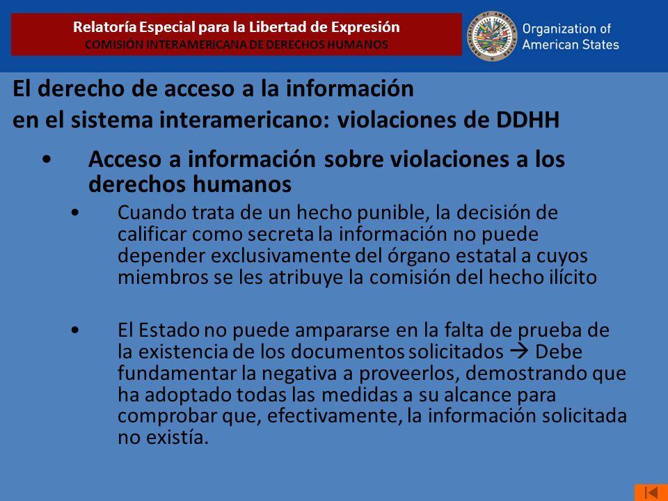 Acceso a información sobre violaciones a los derechos humanos