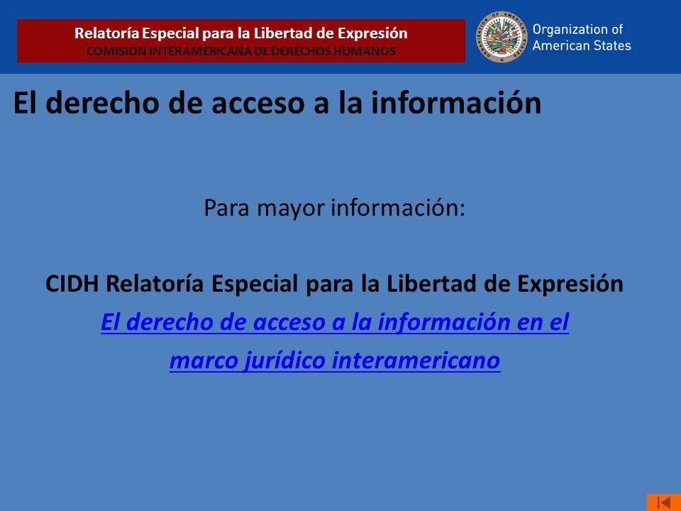 El derecho de acceso a la información