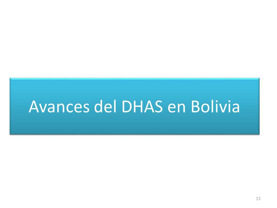 Avances del DHAS en Bolivia
