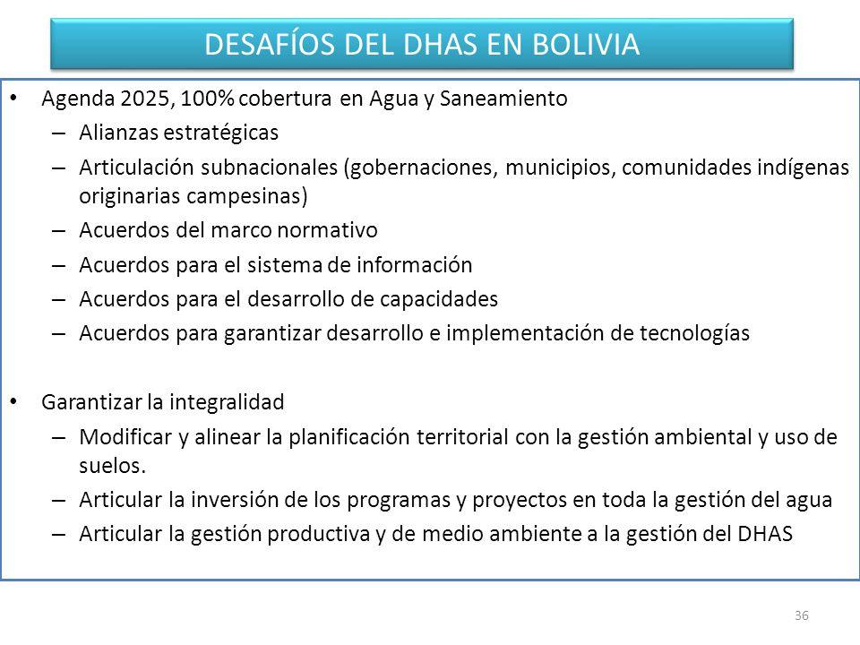 DESAFÍOS DEL DHAS EN BOLIVIA