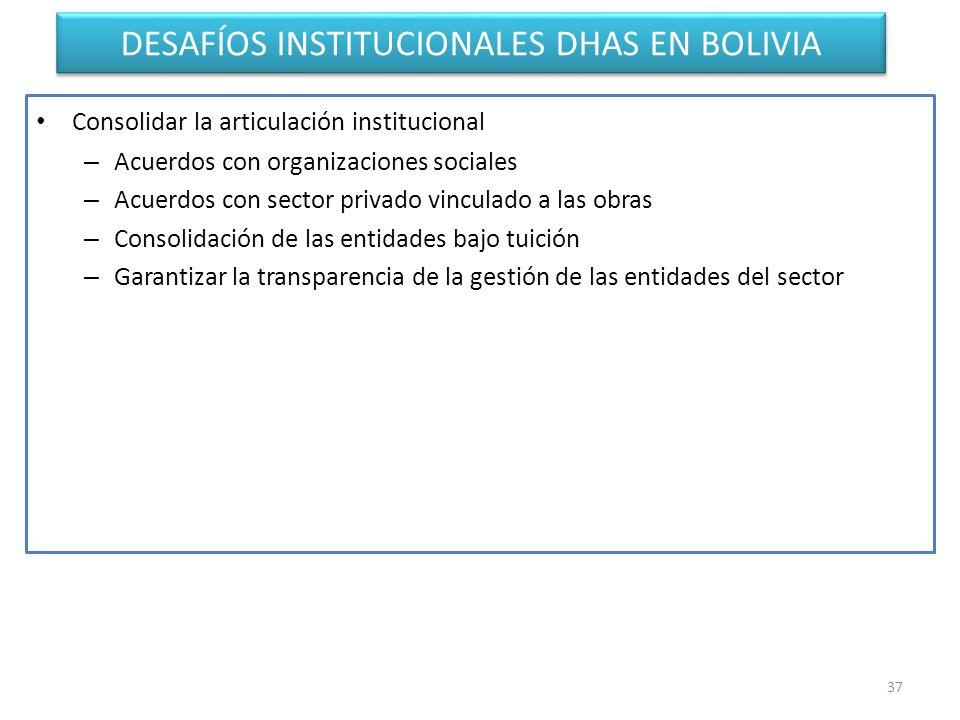 DESAFÍOS INSTITUCIONALES DHAS EN BOLIVIA