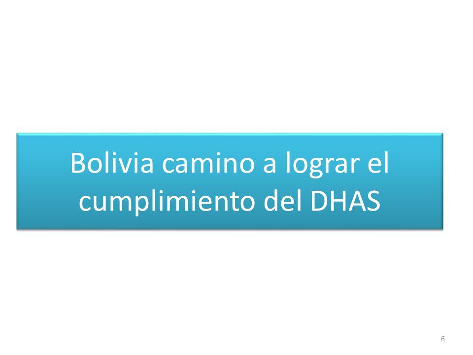 Bolivia camino a lograr el cumplimiento del DHAS