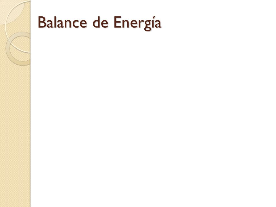 Balance de Energía 22