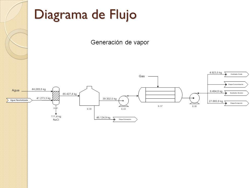 Diagrama de Flujo Generación de vapor