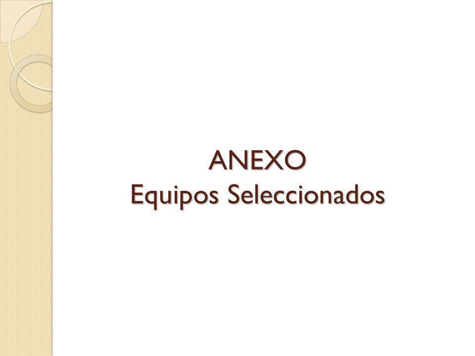 ANEXO Equipos Seleccionados