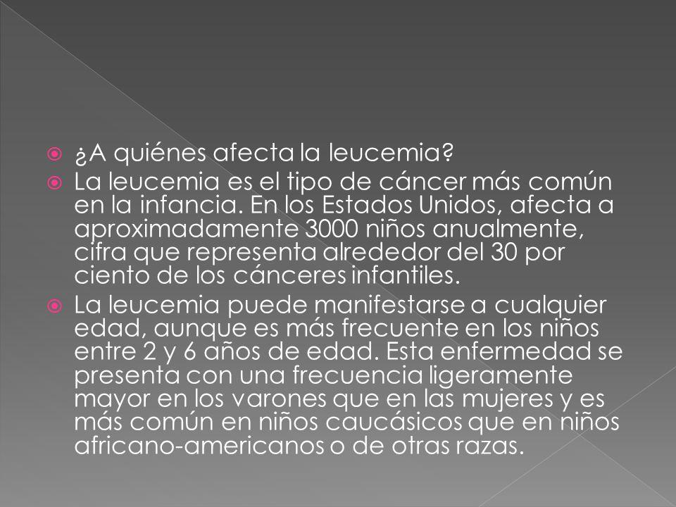 ¿A quiénes afecta la leucemia