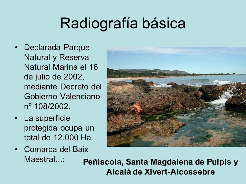 Peñíscola, Santa Magdalena de Pulpis y Alcalà de Xivert-Alcossebre