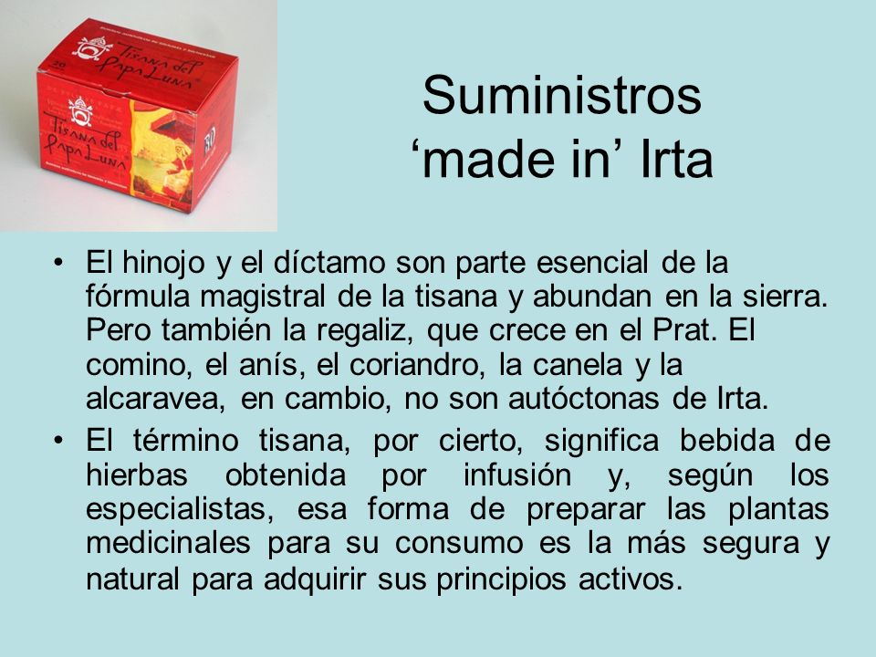 Suministros 'made in' Irta