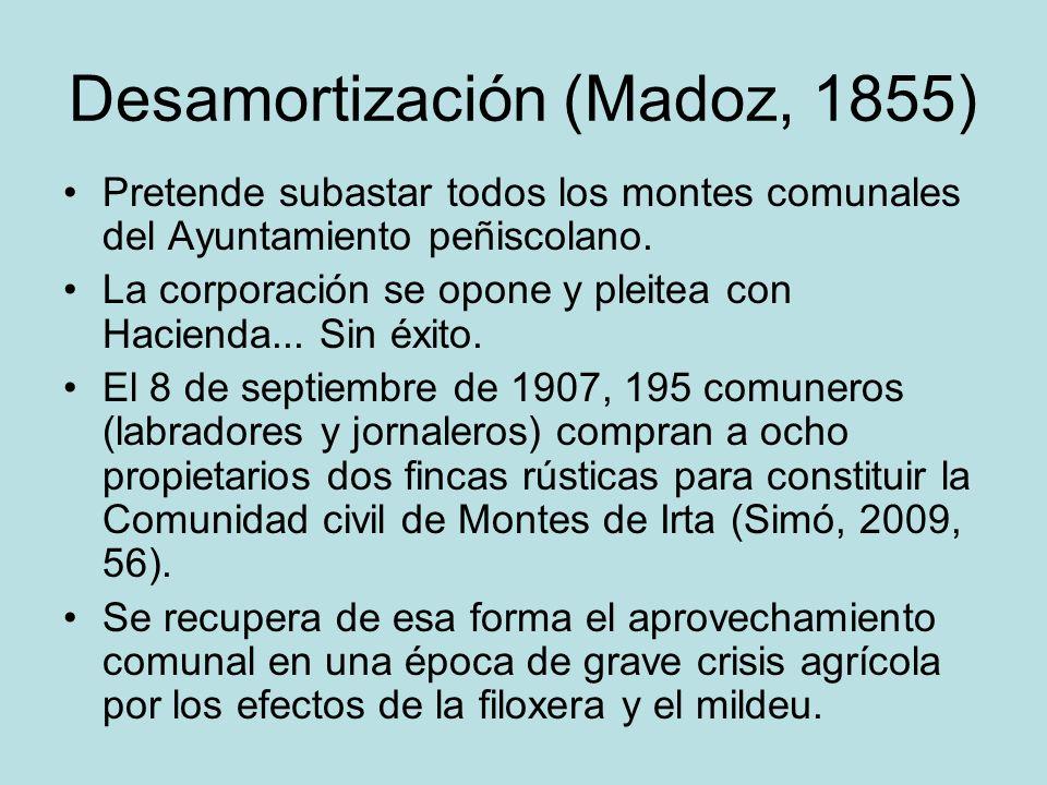 Desamortización (Madoz, 1855)
