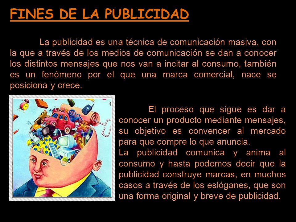 FINES DE LA PUBLICIDAD