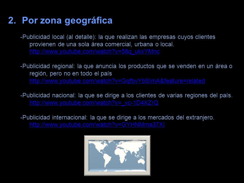 Por zona geográfica