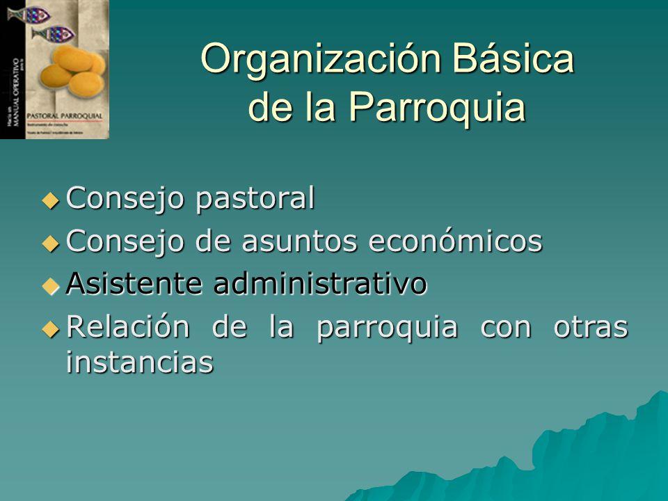 Organización Básica de la Parroquia