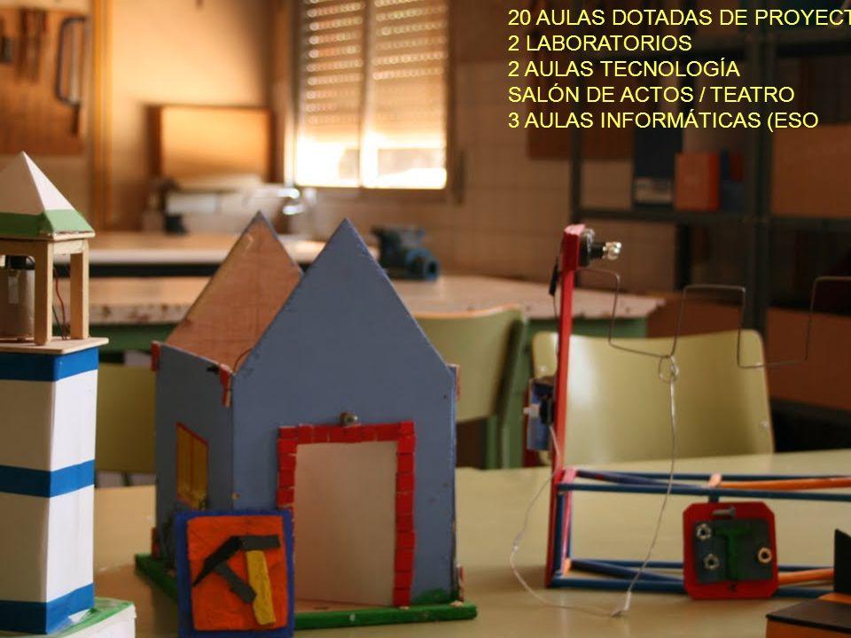 20 AULAS DOTADAS DE PROYECTOR