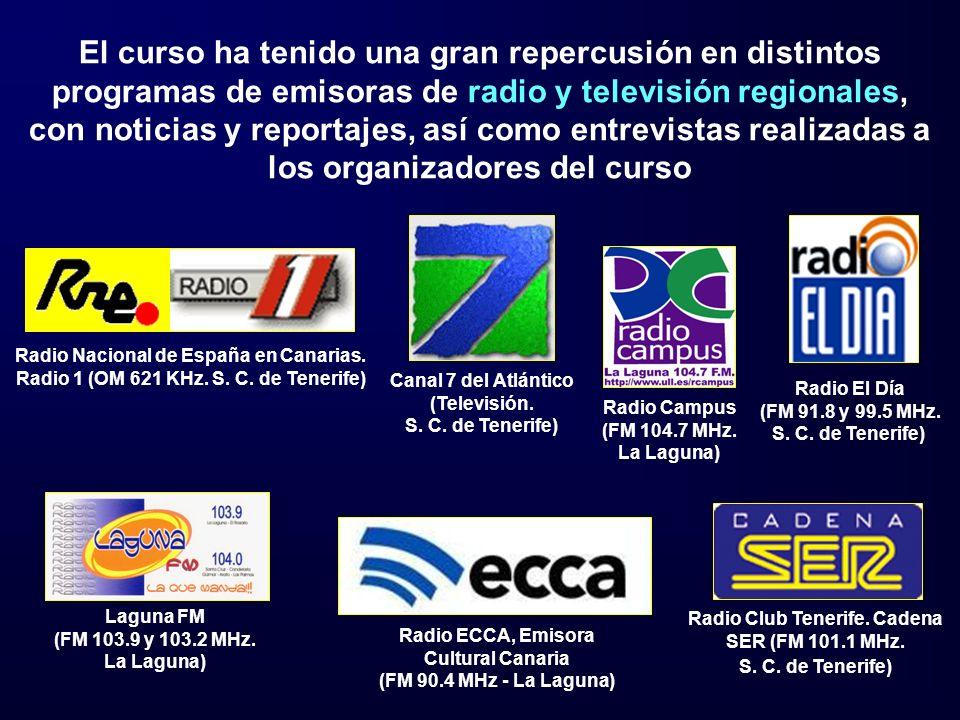 El curso ha tenido una gran repercusión en distintos programas de emisoras de radio y televisión regionales, con noticias y reportajes, así como entrevistas realizadas a los organizadores del curso