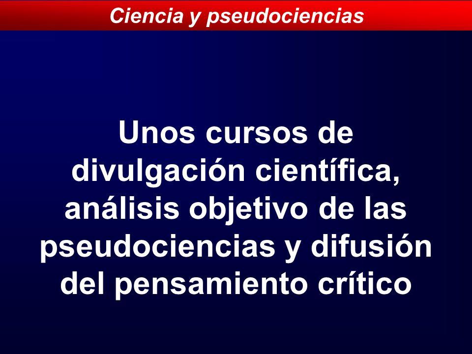 Ciencia y pseudociencias