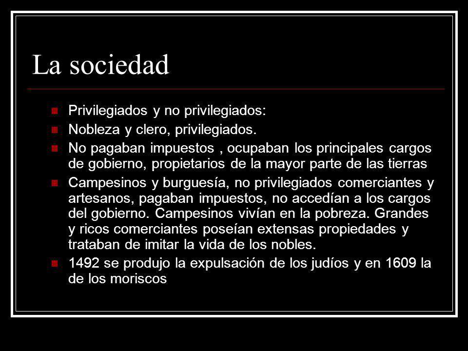 La sociedad Privilegiados y no privilegiados:
