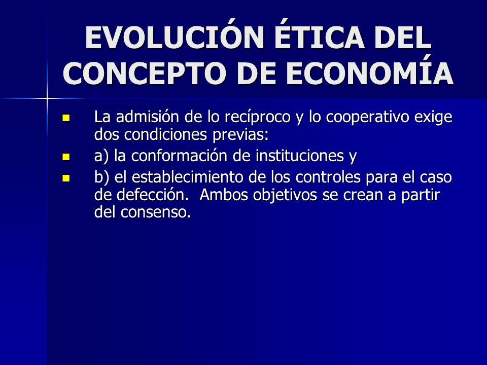 EVOLUCIÓN ÉTICA DEL CONCEPTO DE ECONOMÍA