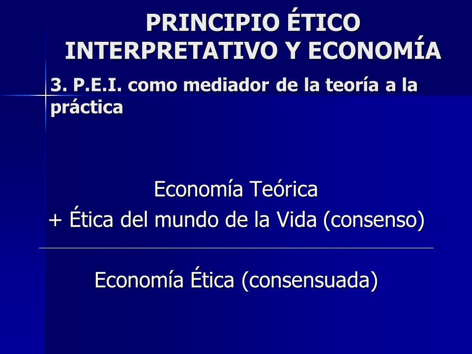 PRINCIPIO ÉTICO INTERPRETATIVO Y ECONOMÍA