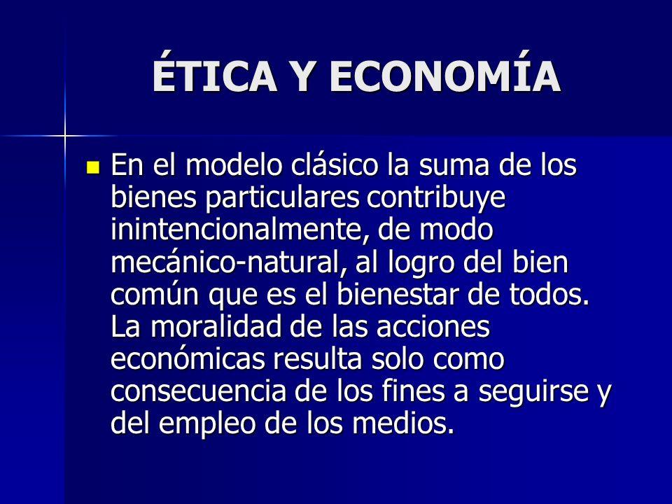 ÉTICA Y ECONOMÍA