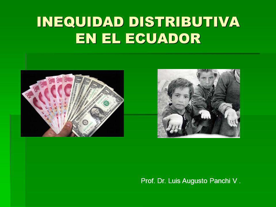 INEQUIDAD DISTRIBUTIVA EN EL ECUADOR