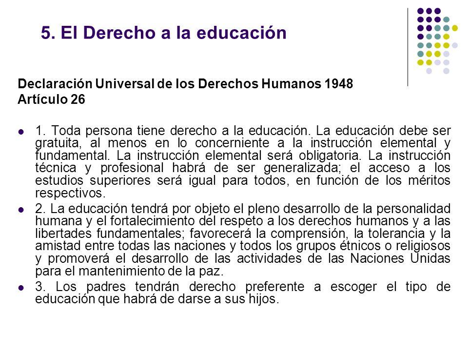 5. El Derecho a la educación
