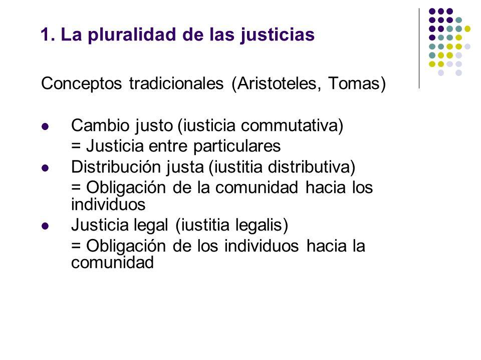 1. La pluralidad de las justicias