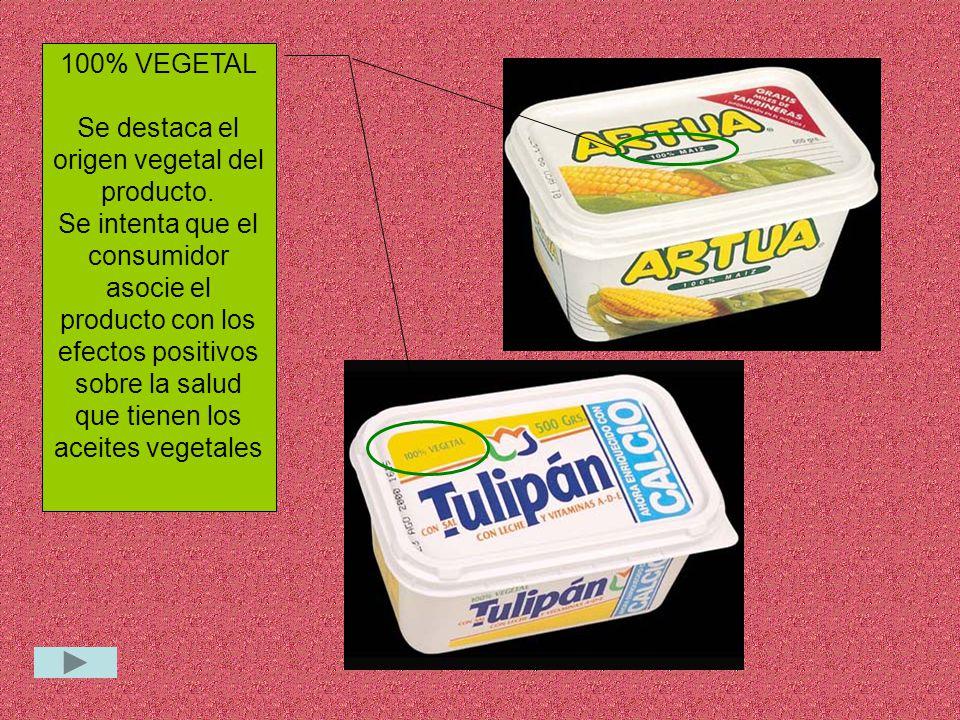 Se destaca el origen vegetal del producto.