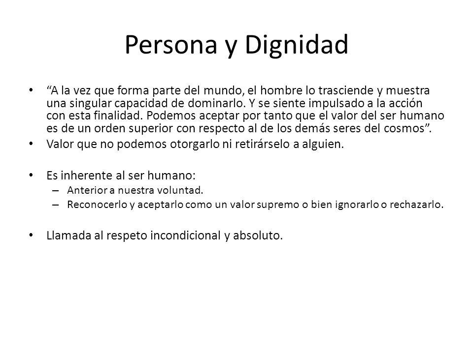Persona y Dignidad