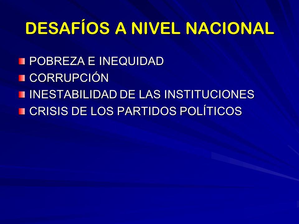 DESAFÍOS A NIVEL NACIONAL