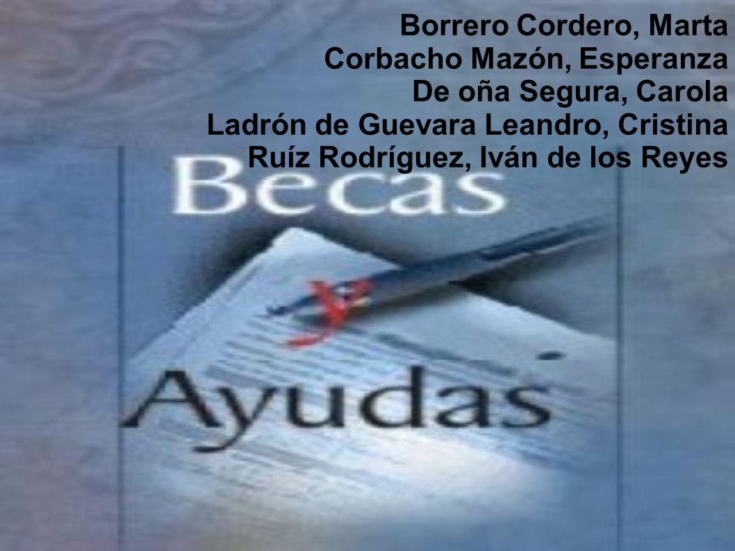 Borrero Cordero, Marta Corbacho Mazón, Esperanza. De oña Segura, Carola. Ladrón de Guevara Leandro, Cristina.