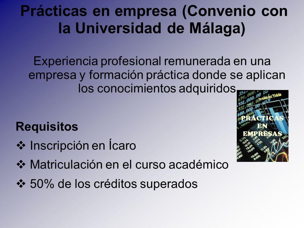 Prácticas en empresa (Convenio con la Universidad de Málaga)