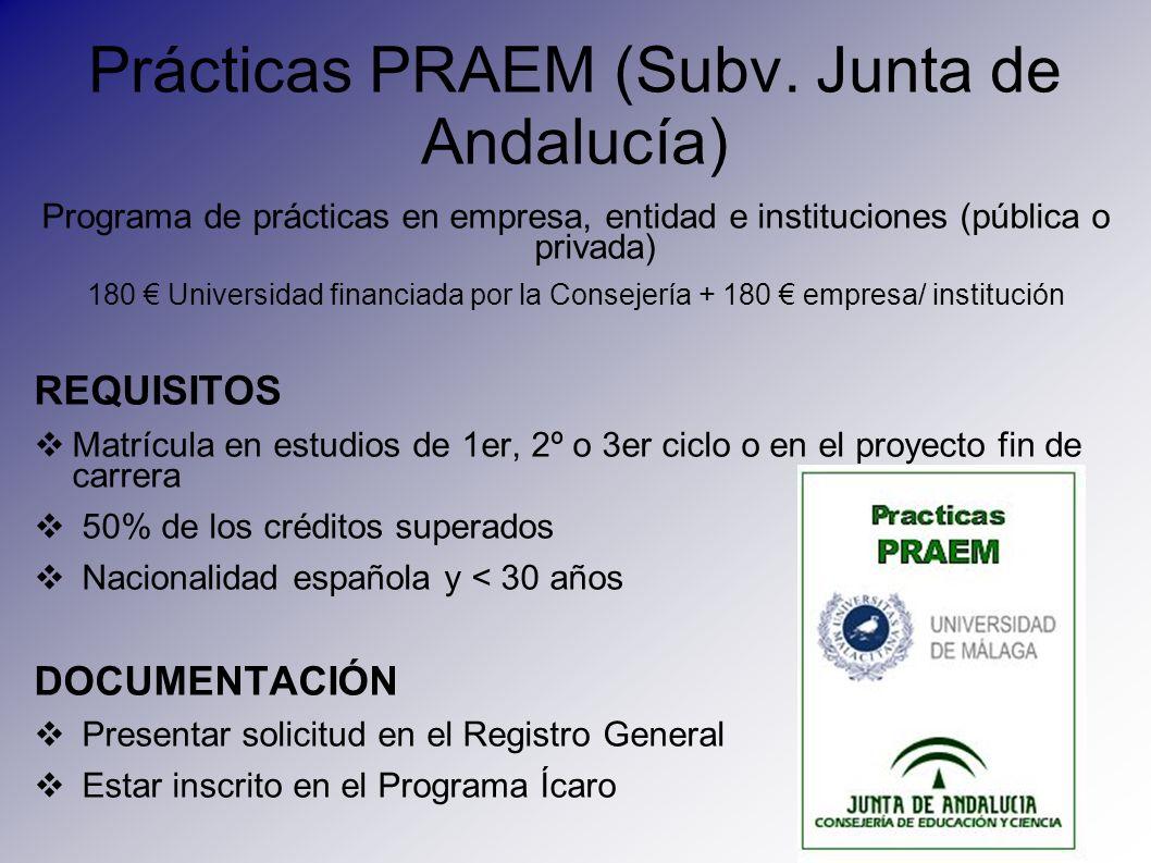Prácticas PRAEM (Subv. Junta de Andalucía)