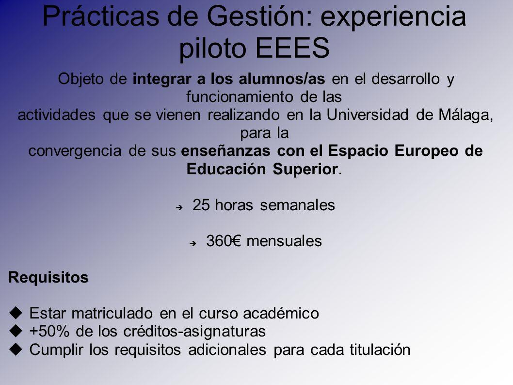 Prácticas de Gestión: experiencia piloto EEES