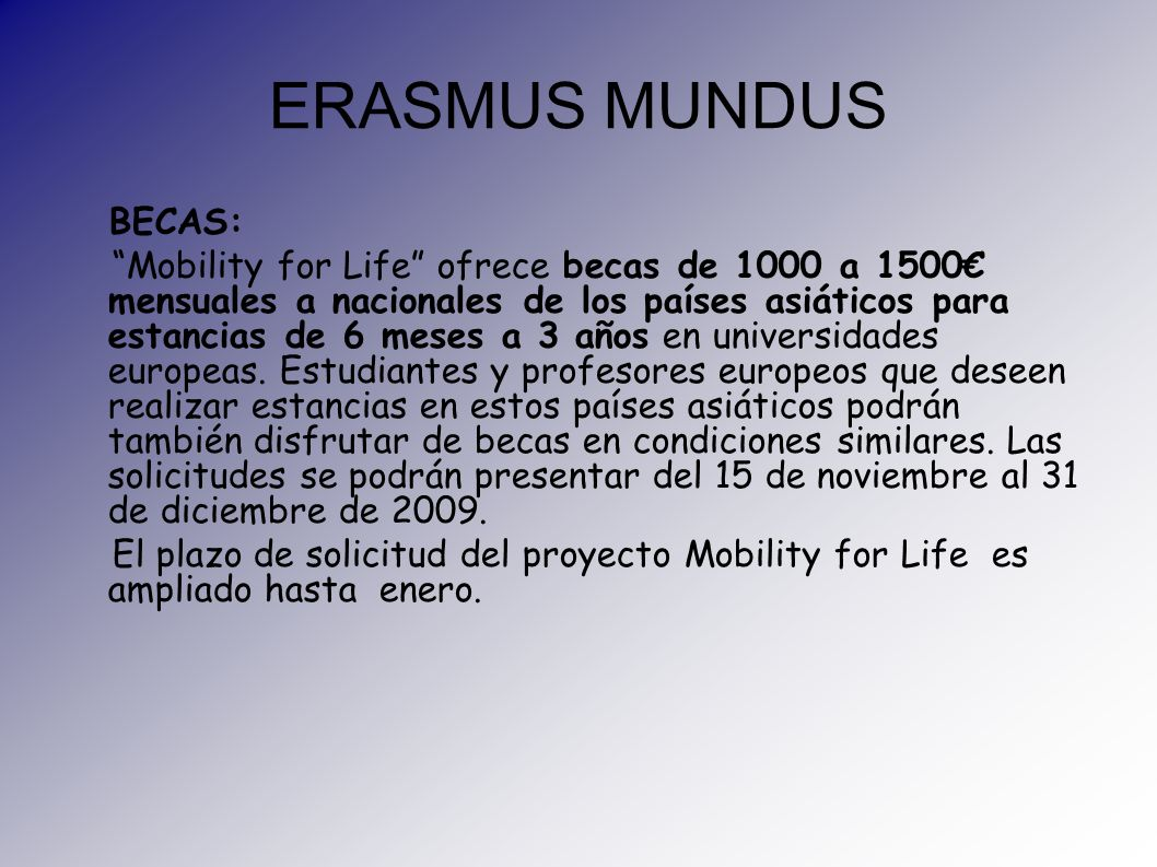 ERASMUS MUNDUS BECAS: