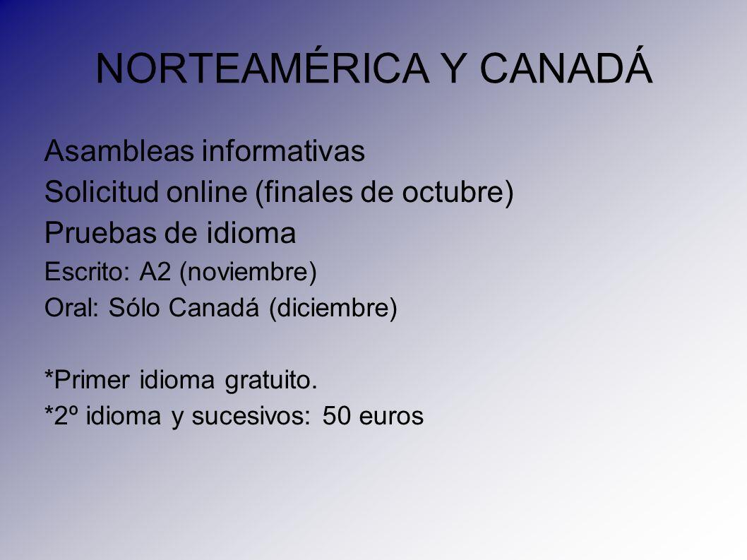 NORTEAMÉRICA Y CANADÁ Asambleas informativas