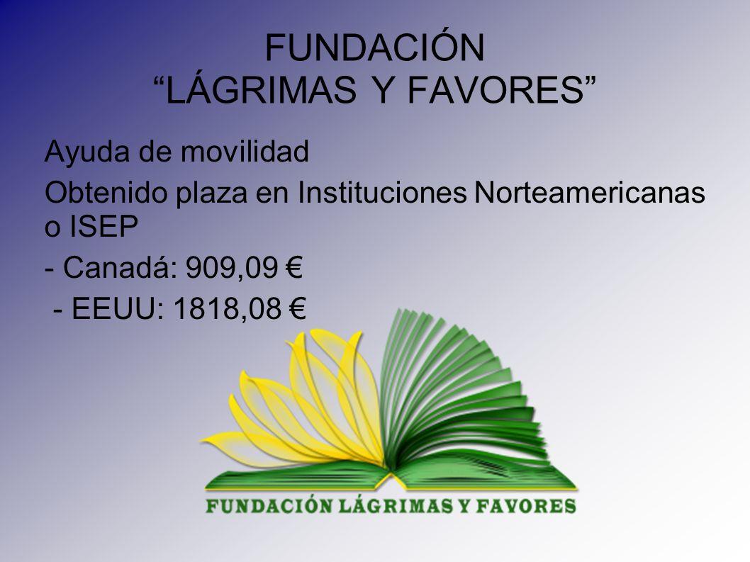 FUNDACIÓN LÁGRIMAS Y FAVORES