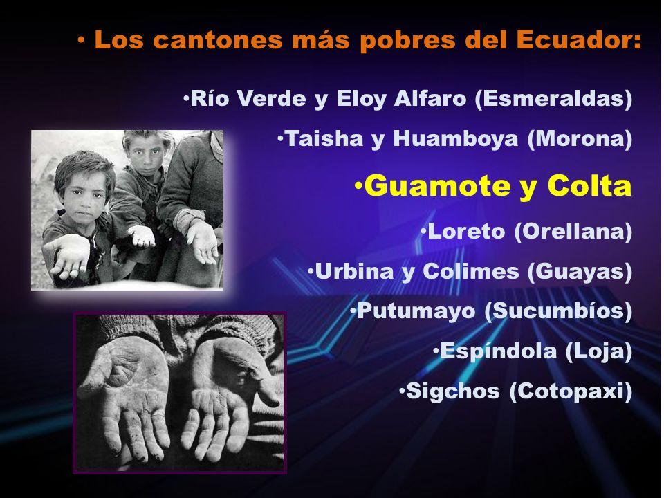Guamote y Colta Los cantones más pobres del Ecuador: