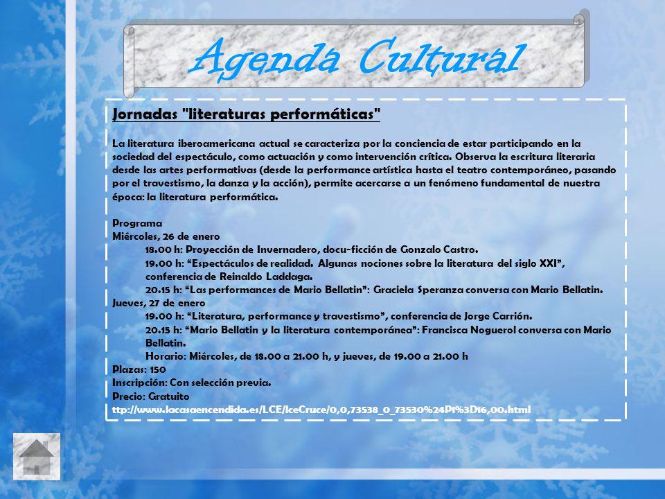 Agenda Cultural Jornadas literaturas performáticas