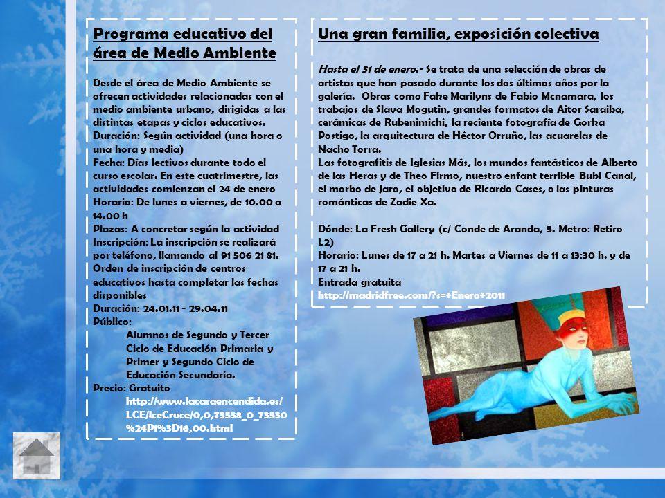 Programa educativo del área de Medio Ambiente