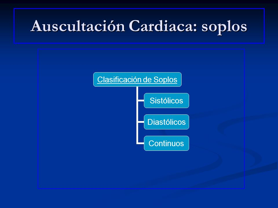 Auscultación Cardiaca: soplos