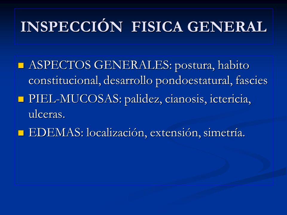 INSPECCIÓN FISICA GENERAL