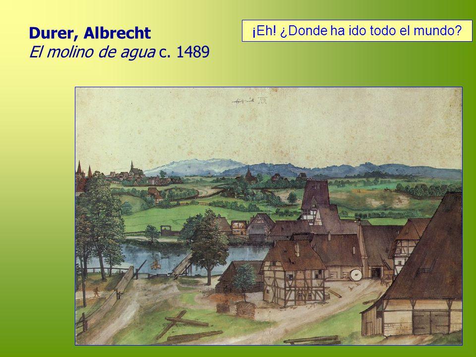 Durer, Albrecht El molino de agua c. 1489