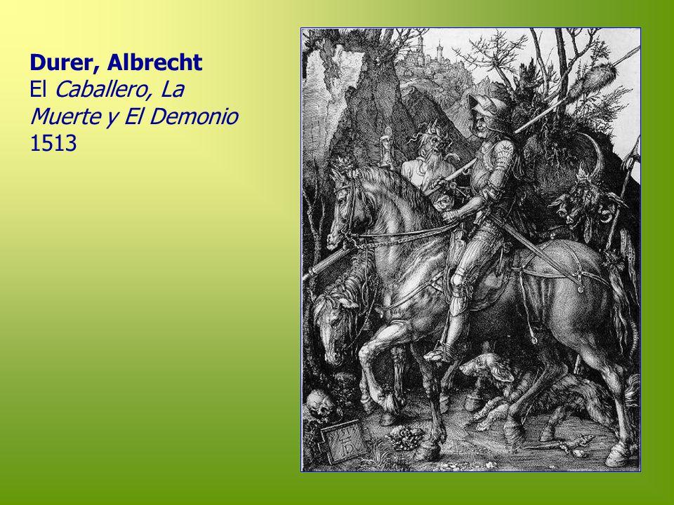 Durer, Albrecht El Caballero, La Muerte y El Demonio 1513