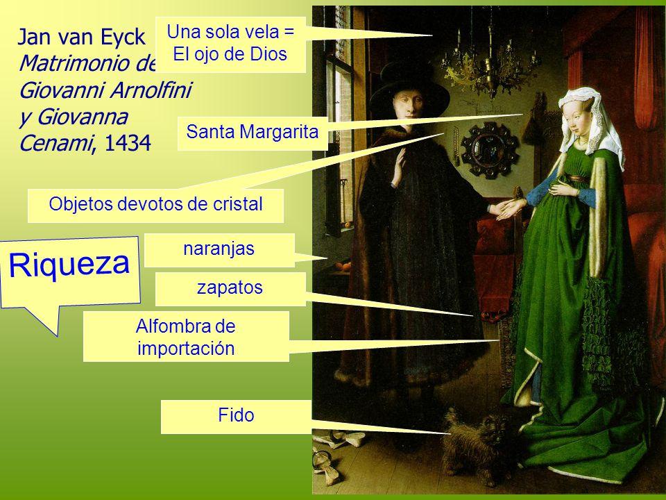 Jan van Eyck Matrimonio de Giovanni Arnolfini y Giovanna Cenami, 1434