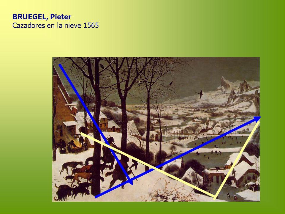 BRUEGEL, Pieter Cazadores en la nieve 1565